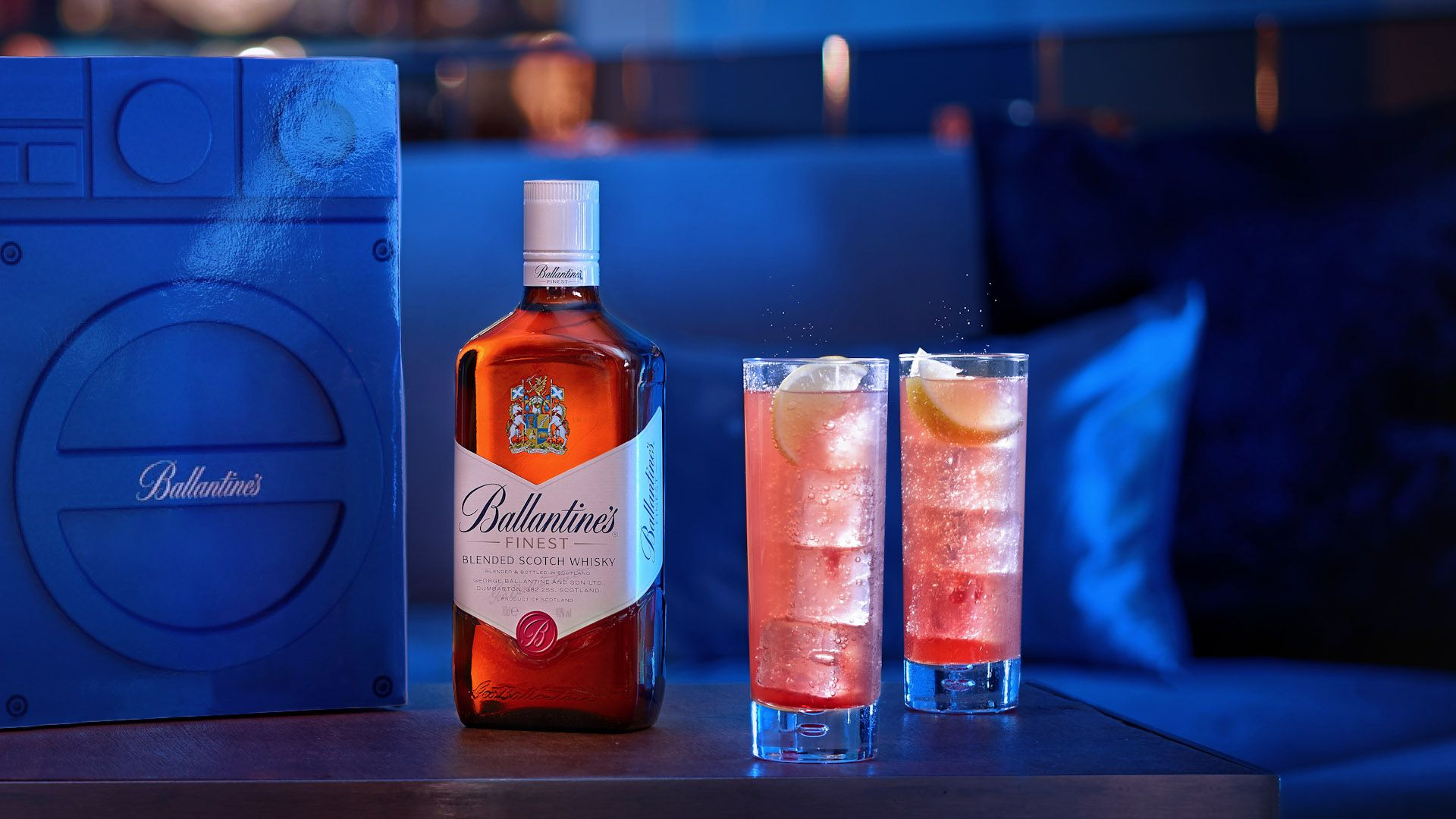 Advertising Photography For Ballantines Advertisement