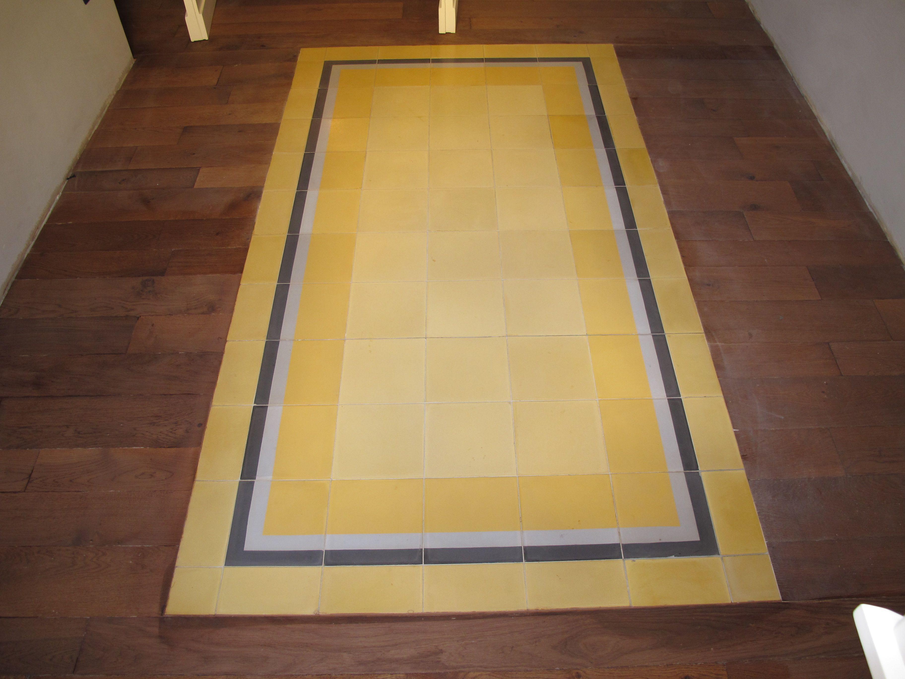 pavimento misto - legno e cementine nuove | Pavimenti Misti ...