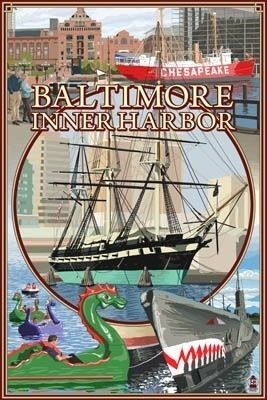 Baltimore Inner Harbor Scenes - Maryland