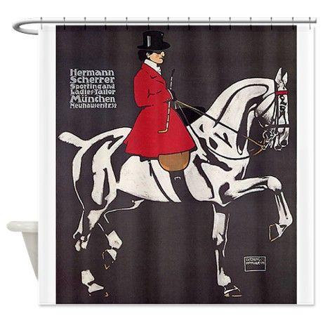 HORSE SIDE SADDLE RIDING LADIES TAILOR HERMANN SCHERRER VINTAGE POSTER REPRO