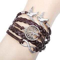 leather+Charm+Bracelets+Alloy+Love+Birds+Life+Tree+and+Infinity+Handmade+Leather+Bracelet+inspirational+bracelets+Christmas+Gifts+–+USD+$+2.99