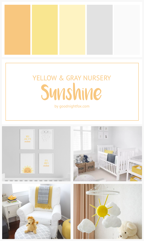You Are My Sunshine Sunshine Nursery Yellow Gray Nursery