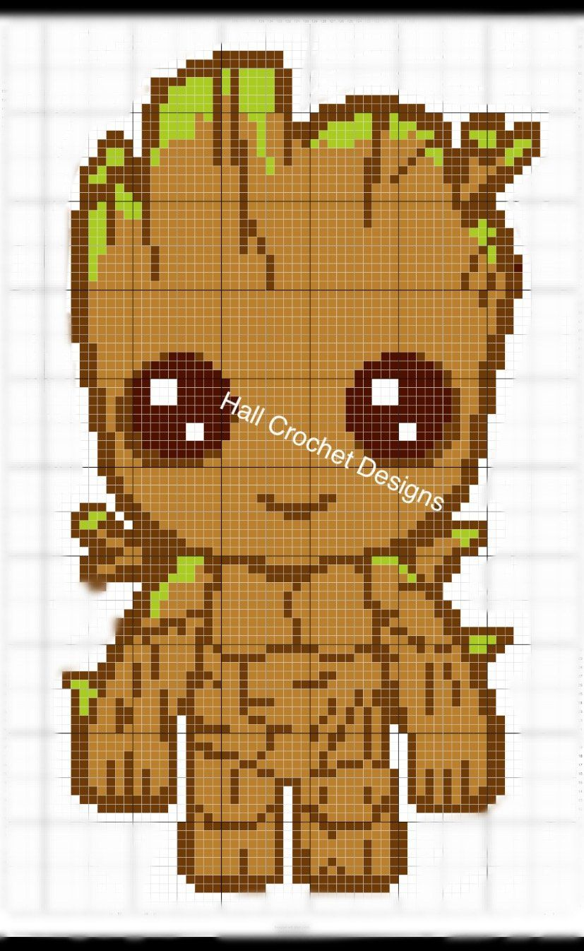 Baby Groot Style C2c Graph And Written Instructions Baby