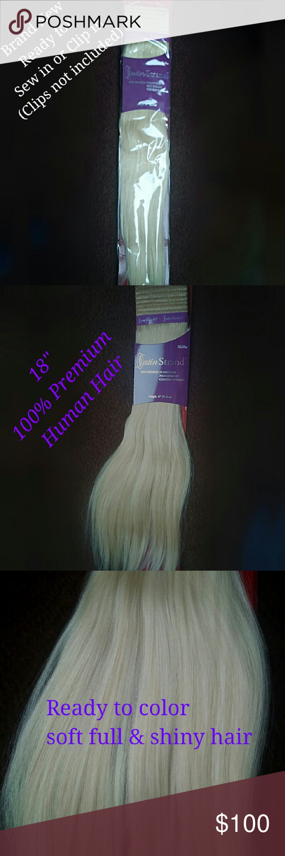 Satin Strands 18 Remy 100 Human Hair Extensions Nwt Pinterest
