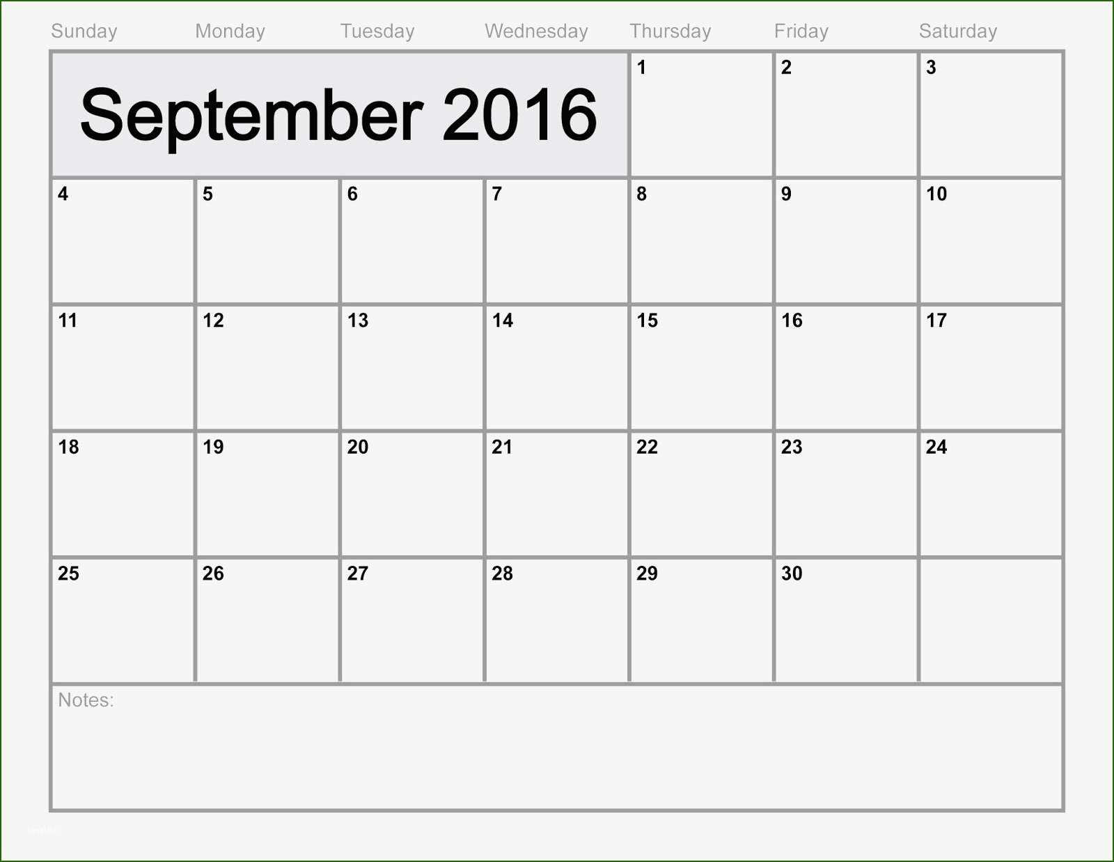 17 Exquisite September 2016 Calendar Template That Prove