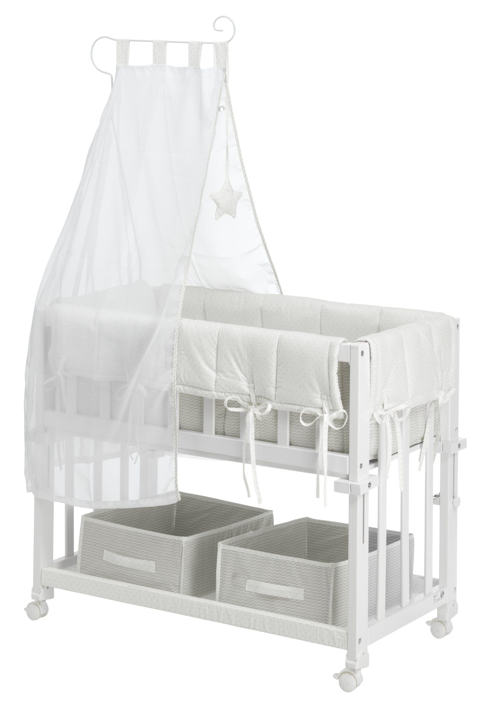 babybett emilie 4 in 1 babybett weiss lackiert verwendbar. Black Bedroom Furniture Sets. Home Design Ideas
