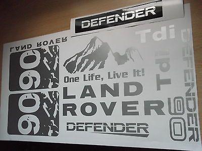 Land Rover Defender Sticker Set Vinyl Decal 90 Td Tdi Def