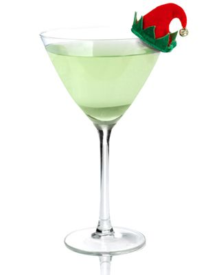 Naugh-TY Elf 1½ oz. TY KU Liqueur(actually what it's called) ½ oz. ginger liqueur 2 oz. light white cranberry juice Lime juice Combine all ingredients in a glass and stir.