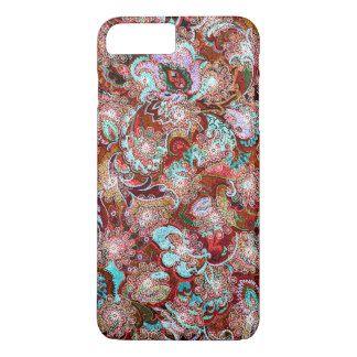 Cute colorful classic floral pattern iPhone 7 plus case