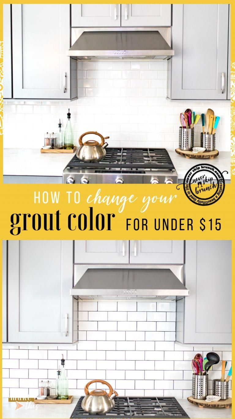 how to change grout color to white