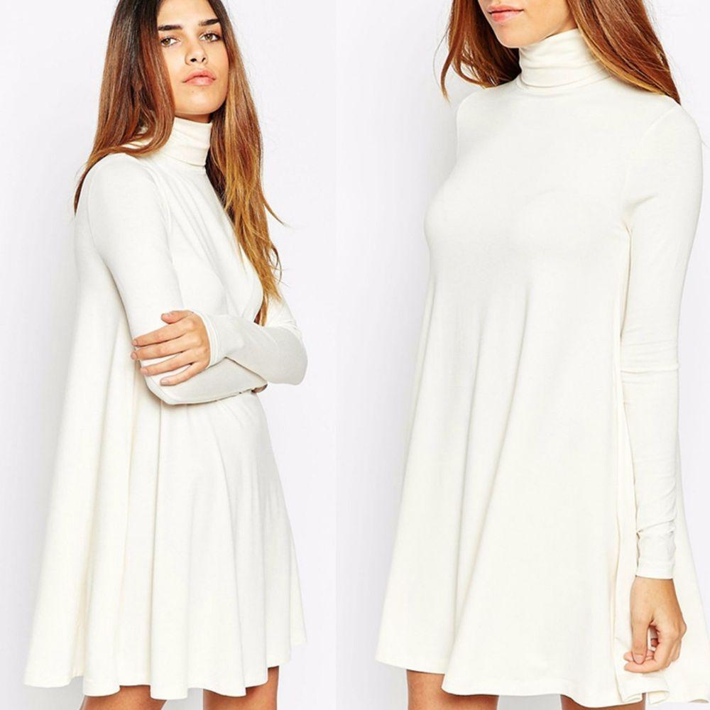 Turtleneck Swing Dress Long Sleeve Casual Ladies Dress or Tunic OFF