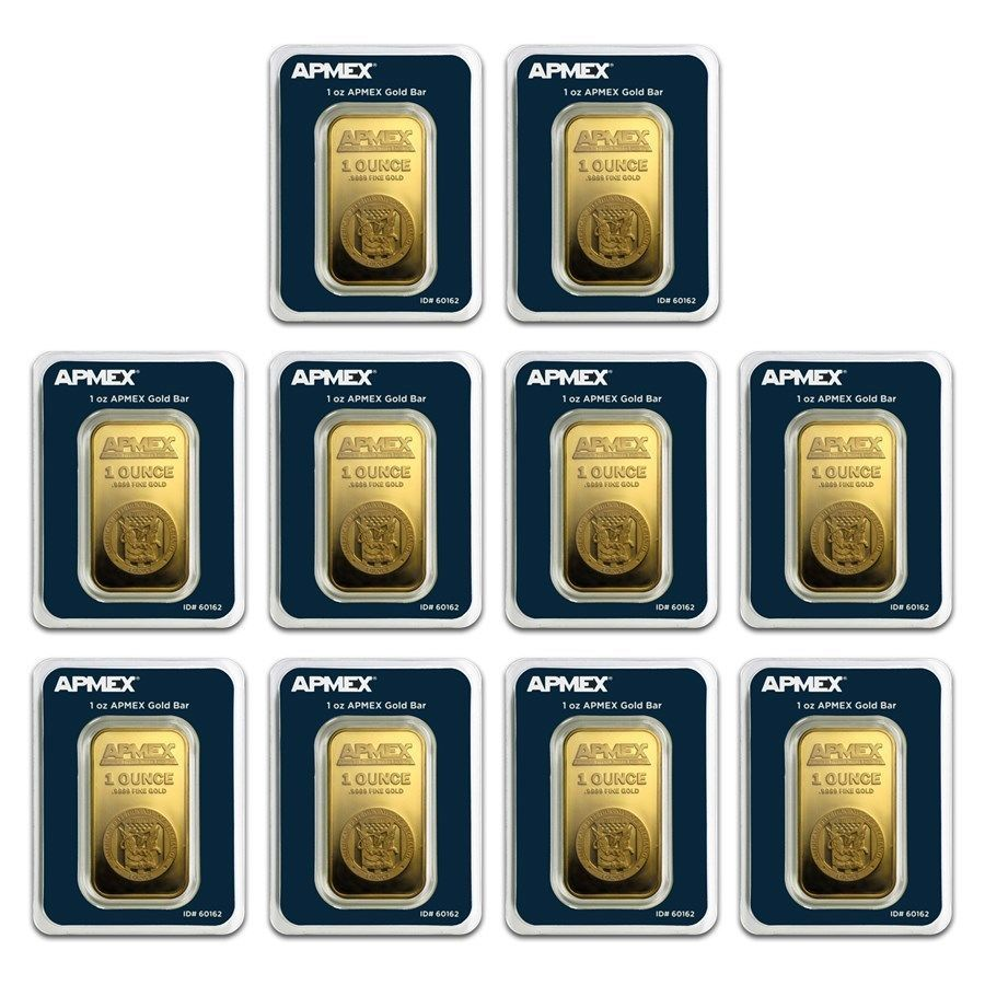 Bank Wire Payment 1 Oz Gold Bar Apmex In Tep Package Lot Of 10 Gold Goldbar Gold Bars For Sale Gold Bar Gold