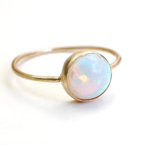 silver simple scotland gold opal stacking in and ring petite handmade gemstone scottish
