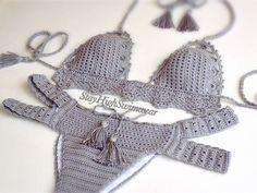 Bagno Moda ~ Crochet bikini donne costumi da bagno triangolo crochet costume da