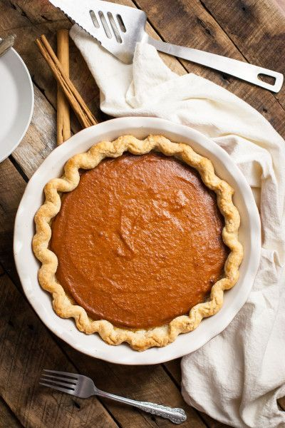 This is THE BEST vegan pumpkin pie recipe I've ever made. You would never know it's vegan, and my friends always ask for seconds. No cracks, guaranteed!