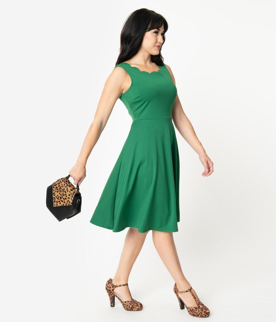 Smak Parlour Green Sleeveless Charmed Swing Dress Dresses Swing Dress Unique Dresses [ 1023 x 879 Pixel ]