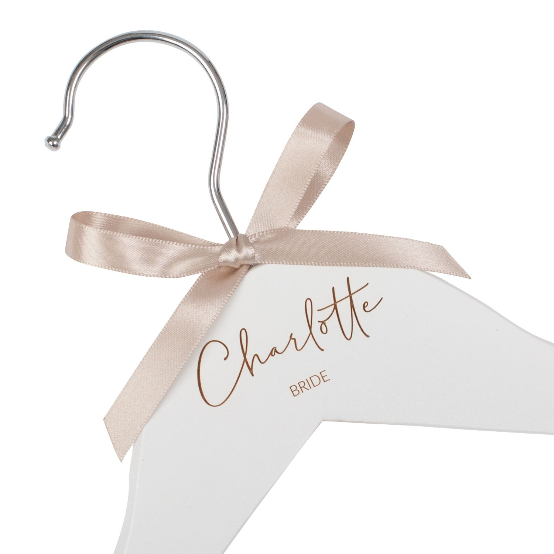 Personalised Engraved Dress Coat Hanger 2019 Design Jajo Uk In 2020 Bridesmaid Hangers Wedding Hangers Personalized Hangers