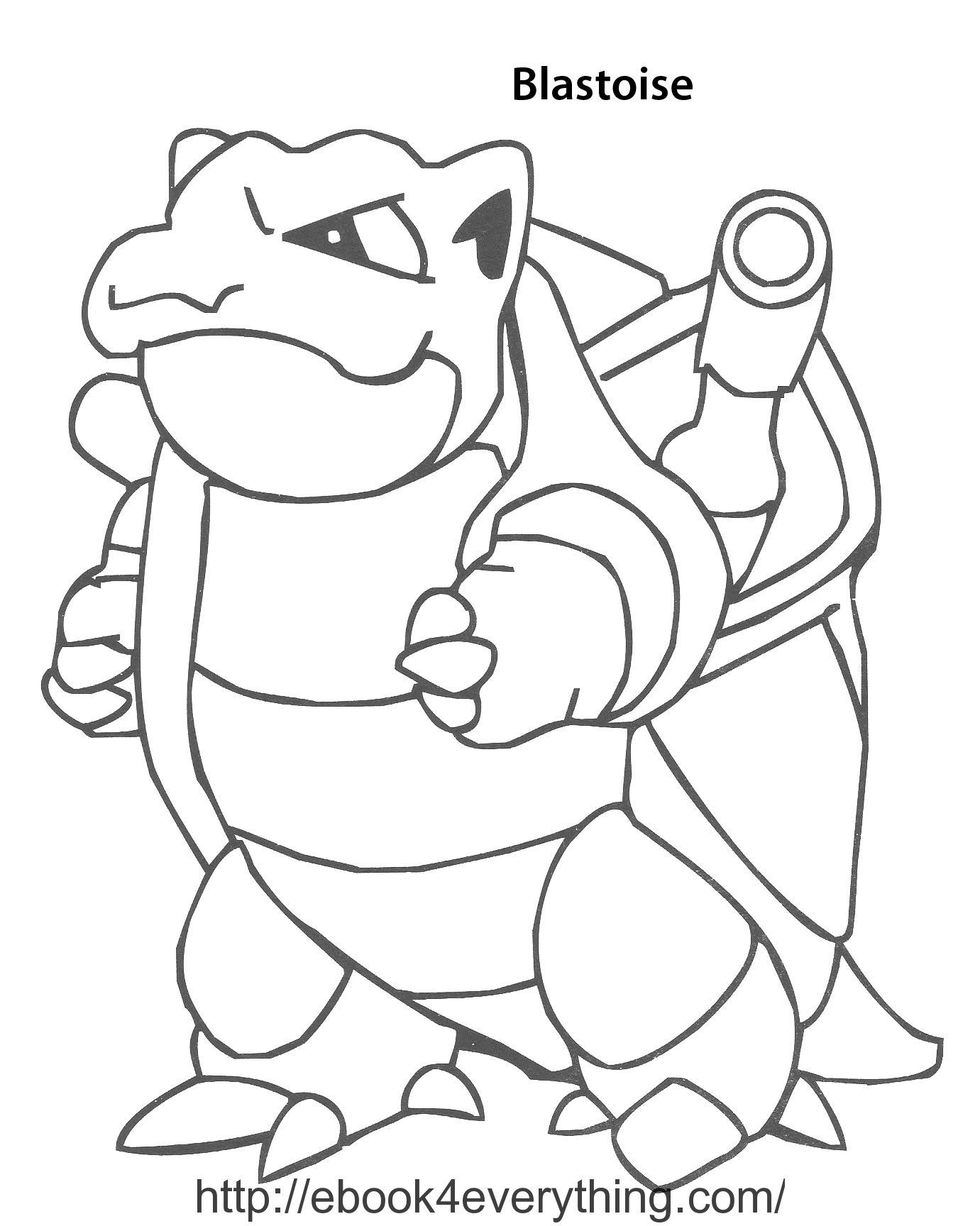 Pokemon coloring pages kyogre - Pokemon Blastoise Coloring Pages Images Pokemon Images