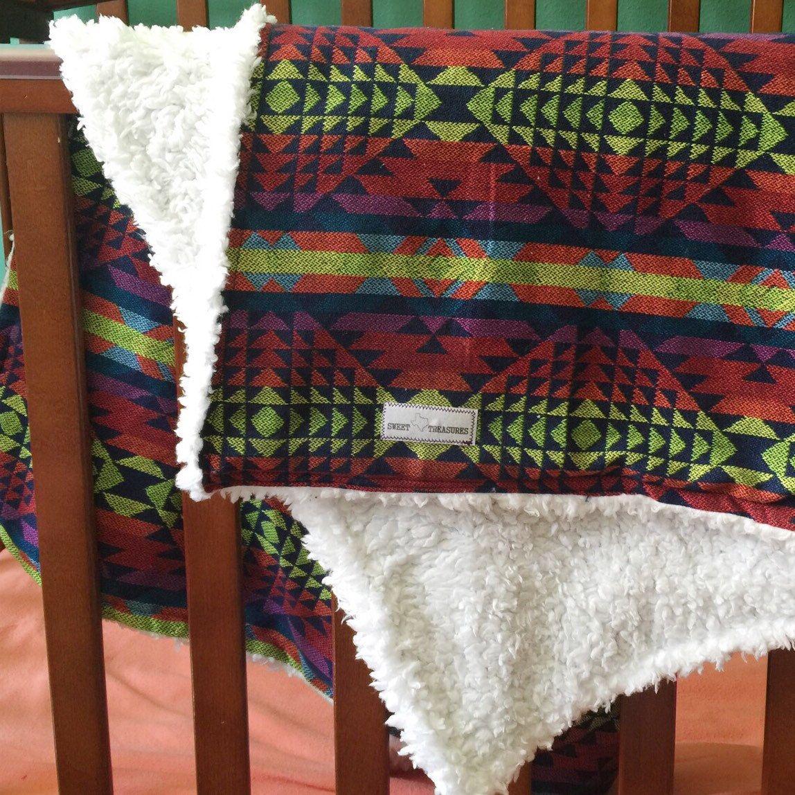 Aztec Sesherpa Baby Blanket