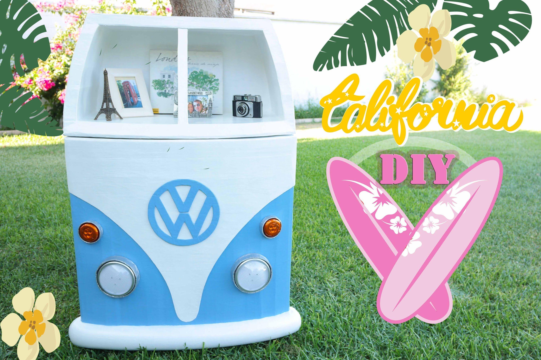 MUEBLE DE CARTÓN VOLKSWAGEN CALIFORNIA ☆ DIY ☆ Mery - CARDBOARD ...