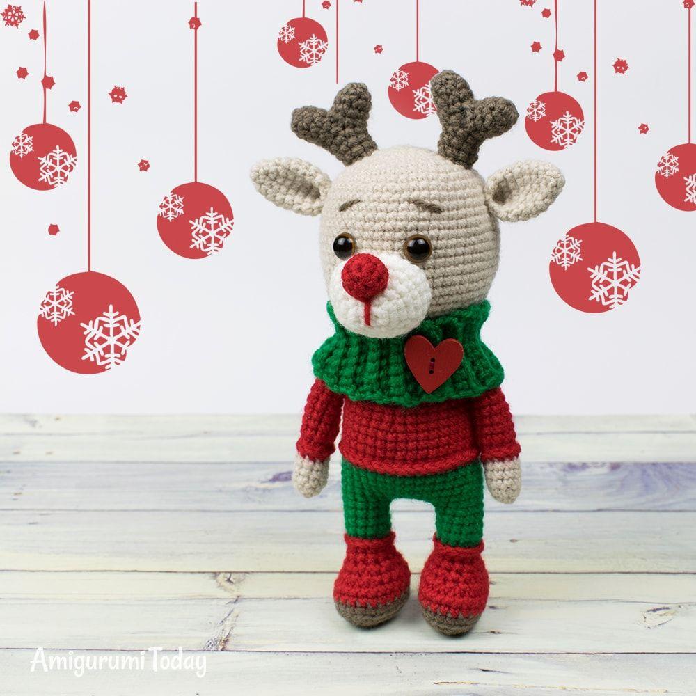 Christmas deer amigurumi pattern | Amigurumi | Pinterest | Croché ...