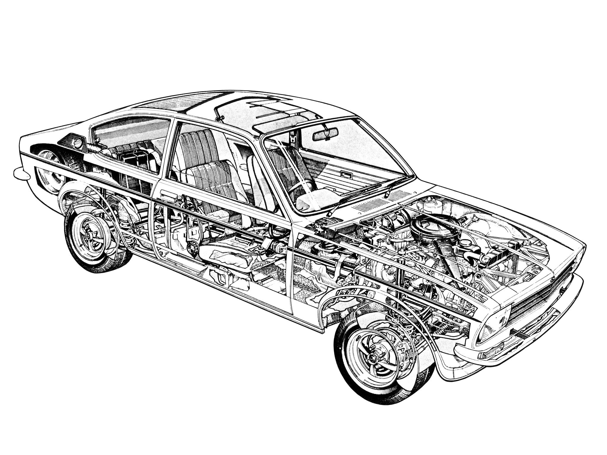 1973 77 Opel Kadett Coupe C Illustrated By Terry Davey Cutaway 2002 Mini Cooper Further Cortina Mk1 Wiring Diagram As Well