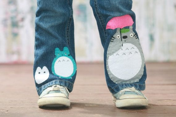 My Neighbor Totoro Blue Bootcut Toddler Jeans by dollfacethreads, $68.00