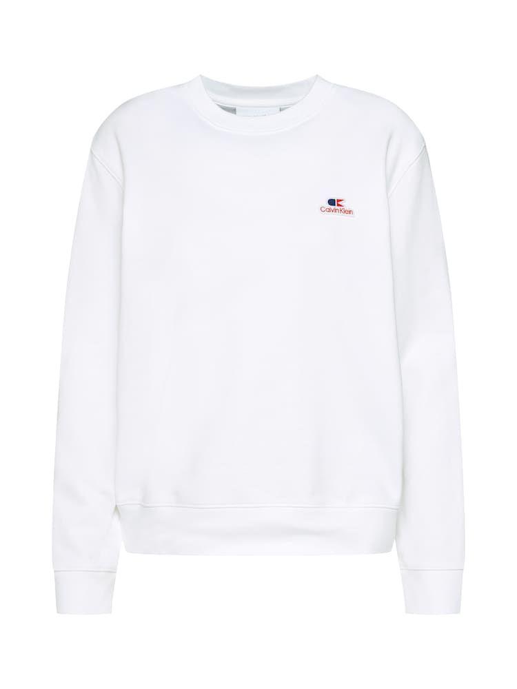 Calvin Klein Sweatshirts Vintage Logo Small Sweatshirt Ls Damen Weiss Grosse Xl Calvin Klein Sweatshirt Vintage Logo Sweatshirt