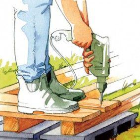 Monter Une Terrasse En Bois Sur Un Sol Meuble Terrasse Bois Terrasse Construction Terrasse