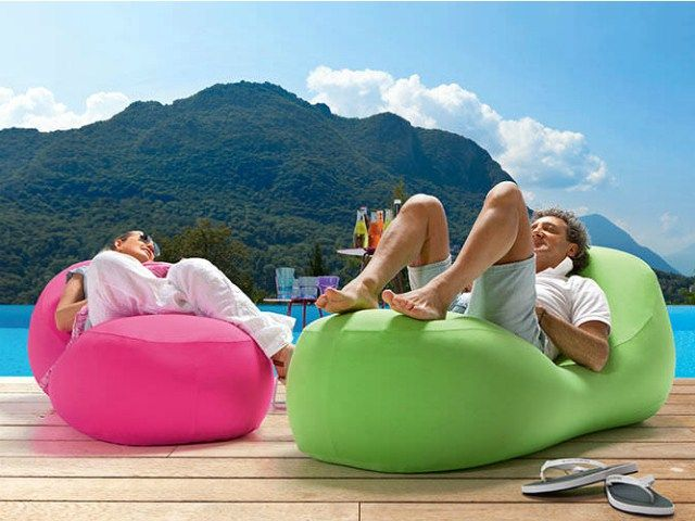 Portable Inflatable Lounger Inflates In Seconds Inflatable Lounger Lounger Inflatable
