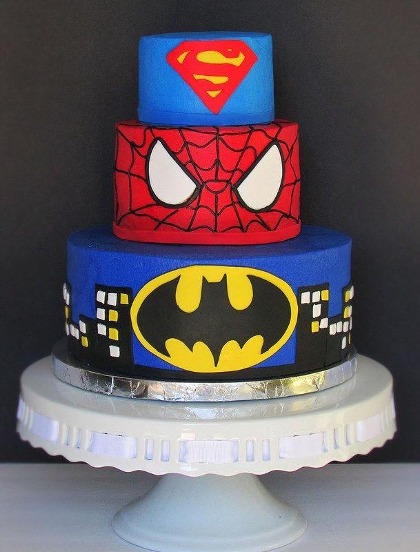 marvel themed cakes Via Mariska Schutte marvel Pinterest