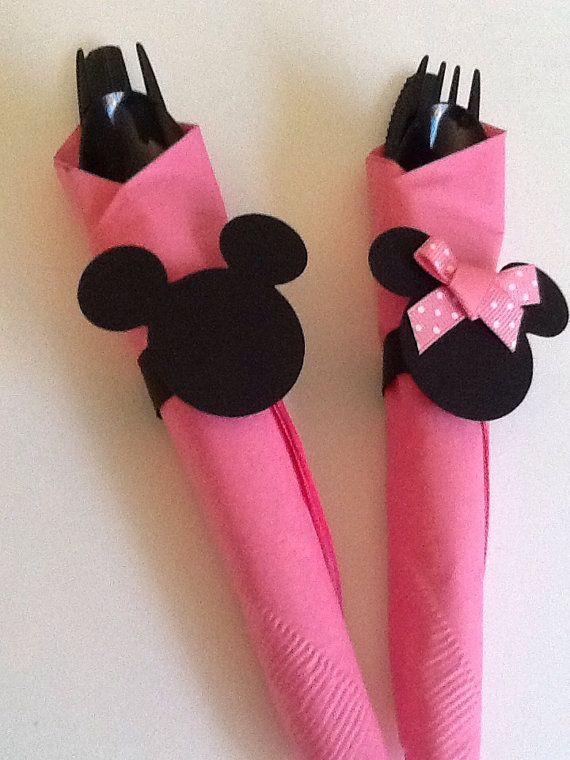 12 Mickey Mouse and Minnie Birthday Party Napkin by VSDesign68