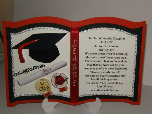 Personalised Graduation Card For Son Or Daughter Cards