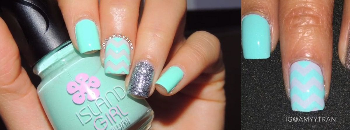 Nail Art Tutorial Easy Chevron Nails