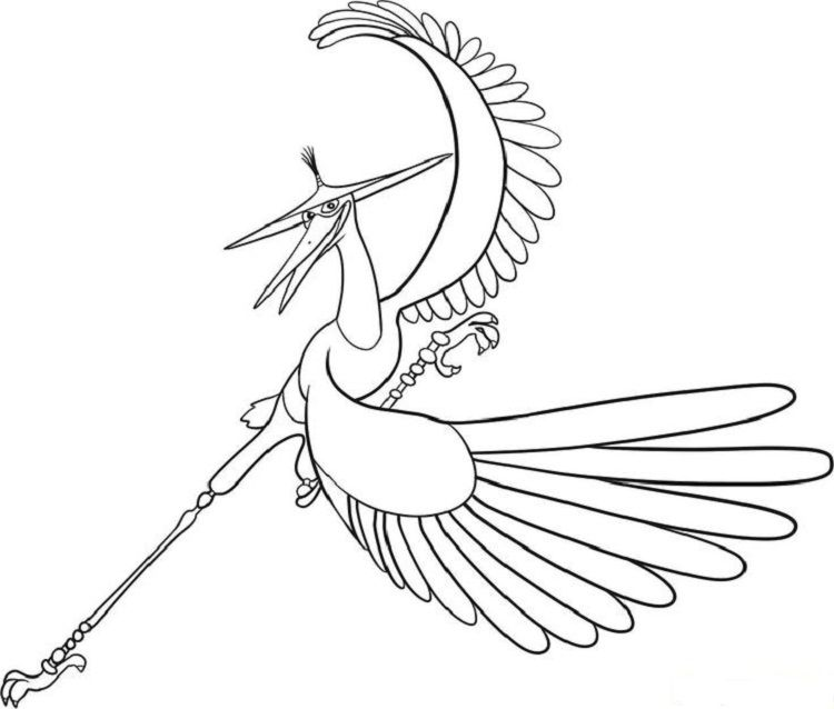 Kung Fu Panda Crane Coloring Pages | Coloring Pages ideas ...