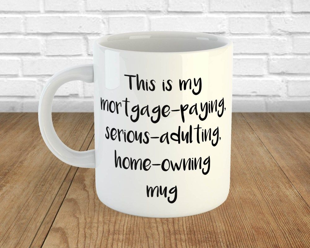 Funny first time house buyers mug house warming gift diy