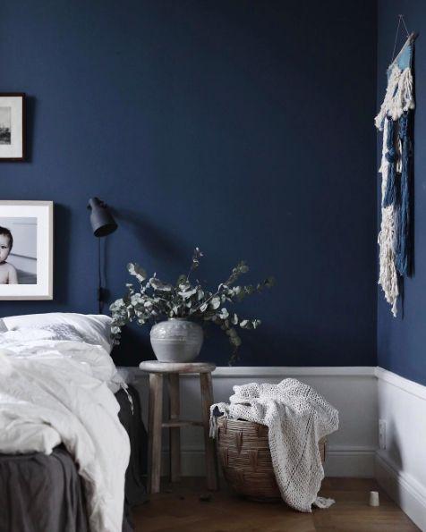 Follow Interitrend Instagram Tumblr Blue Bedroom Walls Blue Bedroom Decor Navy Blue Bedroom Walls Tumblr bedroom ideas blue