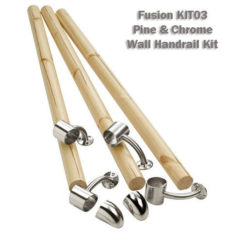 Best Fusion Pine Chrome Wall Handrail Kit Handrail 400 x 300