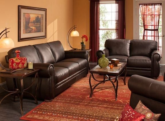 Marsala Leather Sofa Brown Sofa Living Room Living Room Leather Living Room Sets