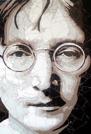 John Lennon Mosaic By Ed Chapman Ceramic Tile Fragments