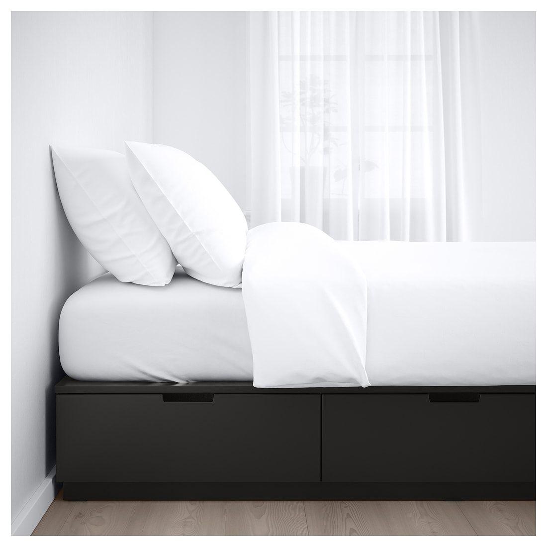 Nordli Bettgestell Mit Schubladen Anthrazit Ikea Deutschland Bettgestell Bett Lagerung Ikea Bett