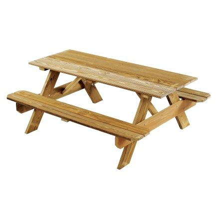 Enjoyable Georgia Vitrified 6Ft Heavy Duty Wood Picnic Table Pt6Tg Frankydiablos Diy Chair Ideas Frankydiabloscom