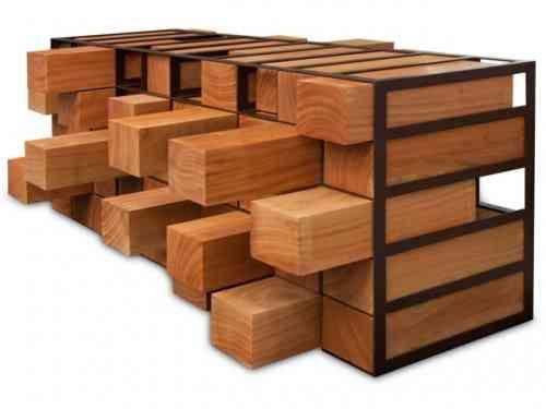 Meubles bois brut meuble design