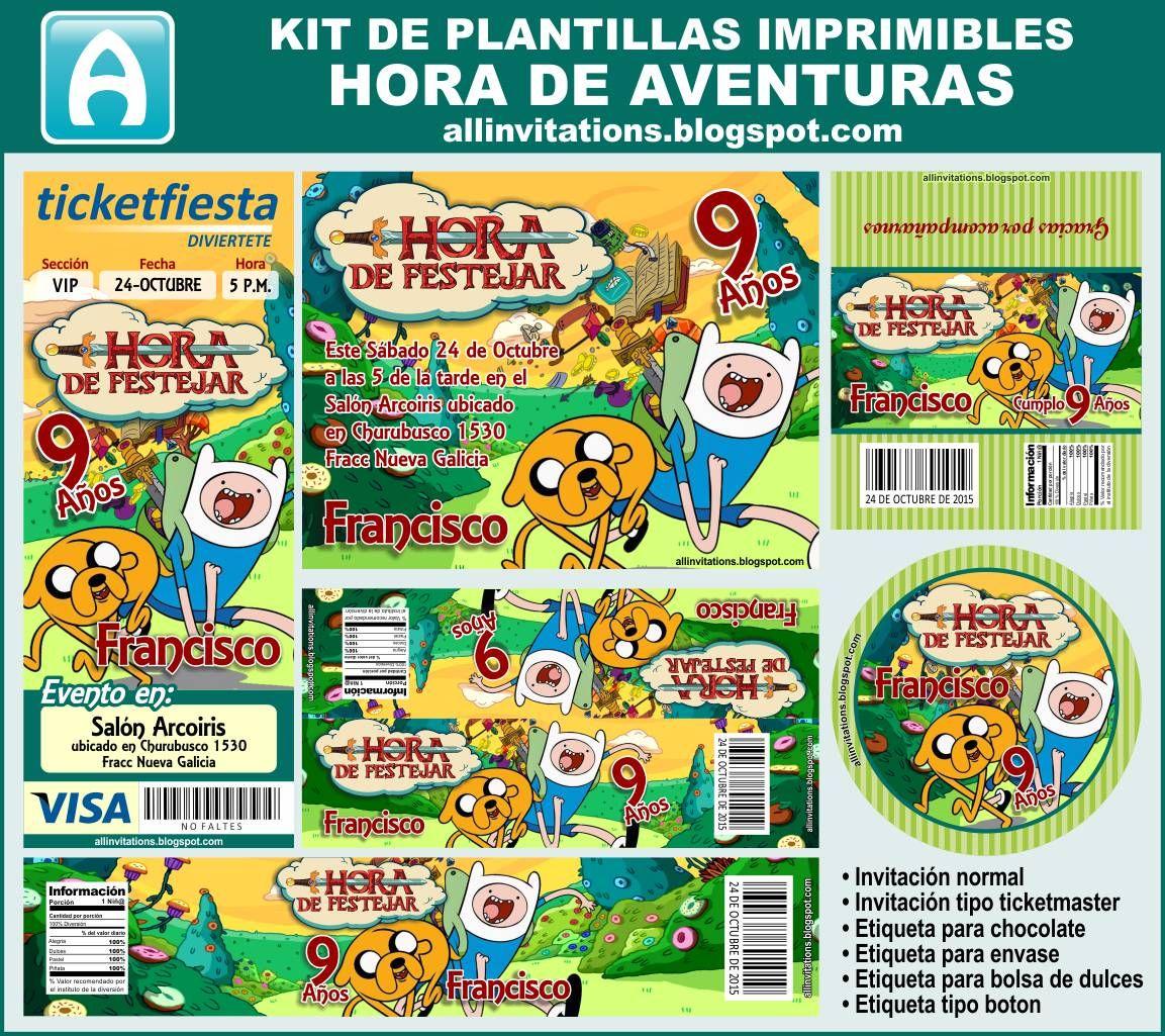 Kit imprimible de Hora de Aventura