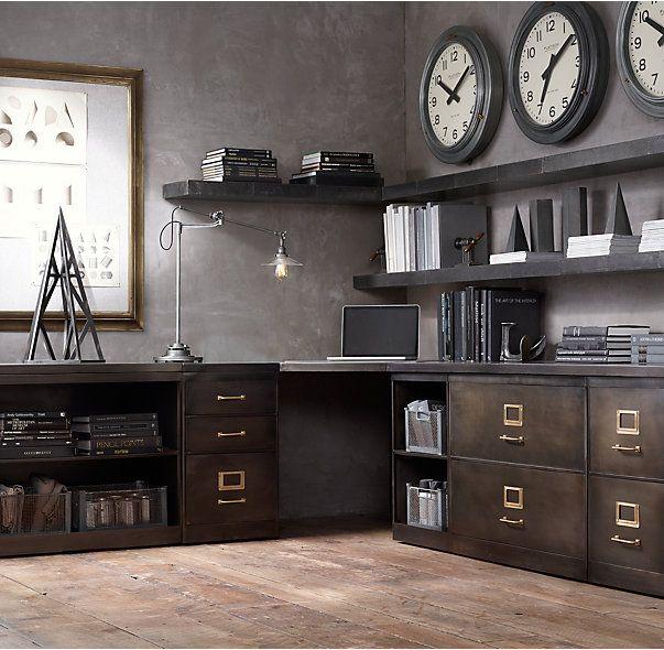 Have elizabeth make this 1940s industrial modular office corner desk system tim e final - Industrial style mobel ...