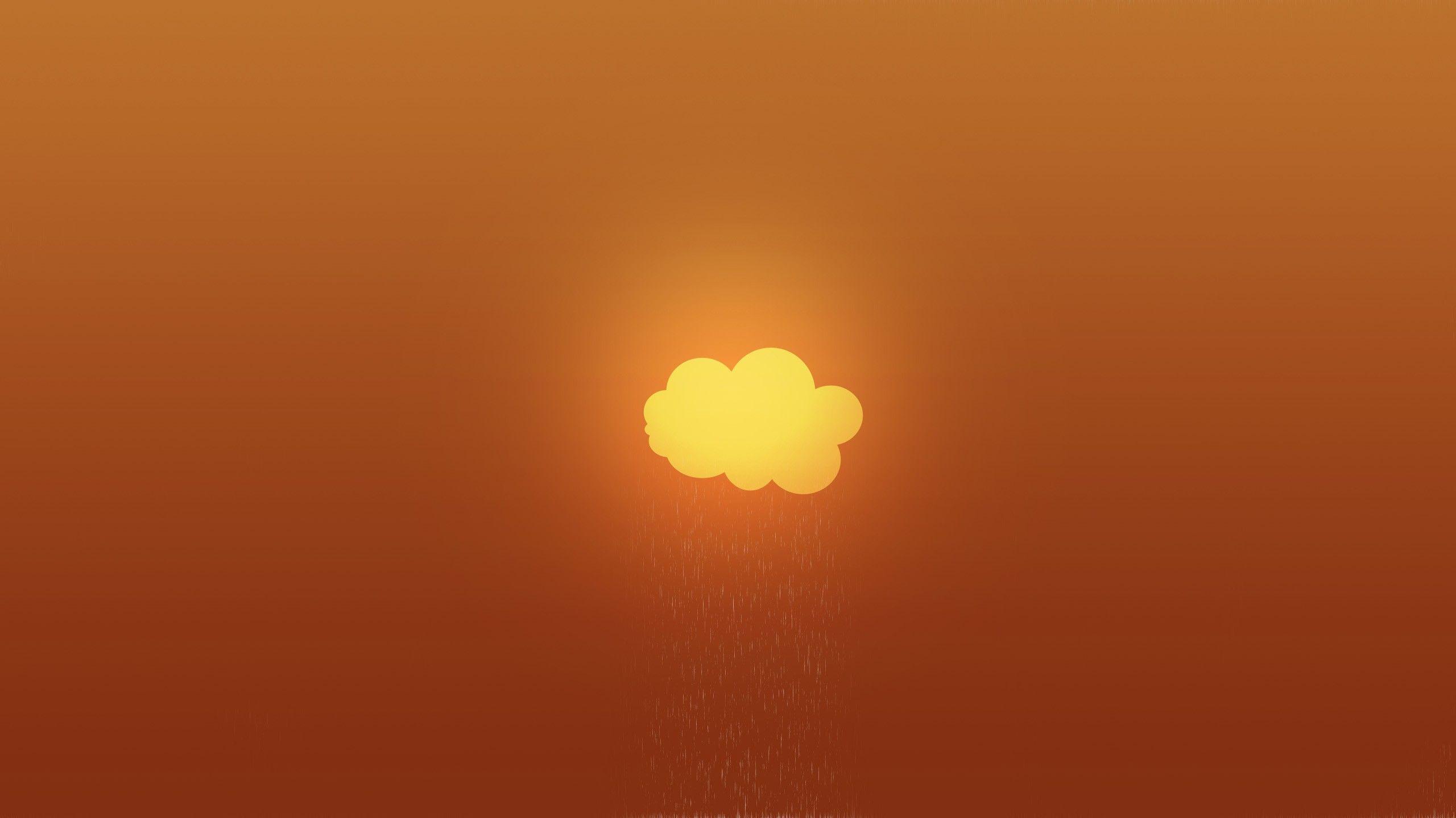 Clouds Minimalistic Orange Gradient 2560x1440 Wallpaper Wallpaper Art Memes Photo Art