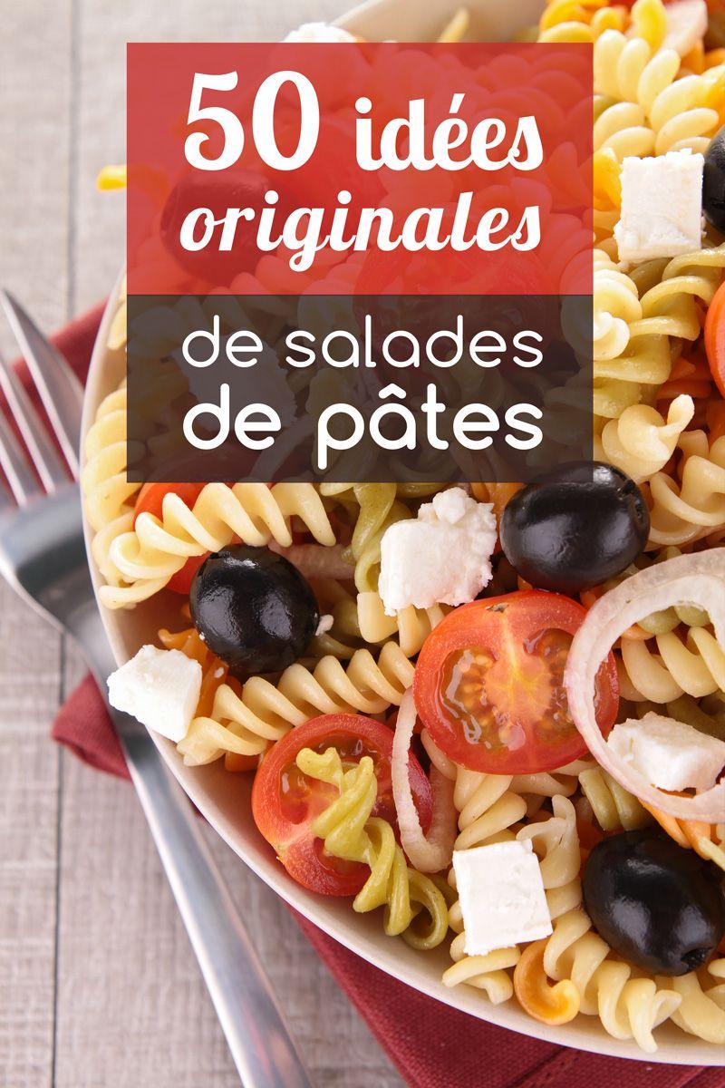 50 id es originales de salades de p tes pour vous la raconter plats sal s pinterest. Black Bedroom Furniture Sets. Home Design Ideas