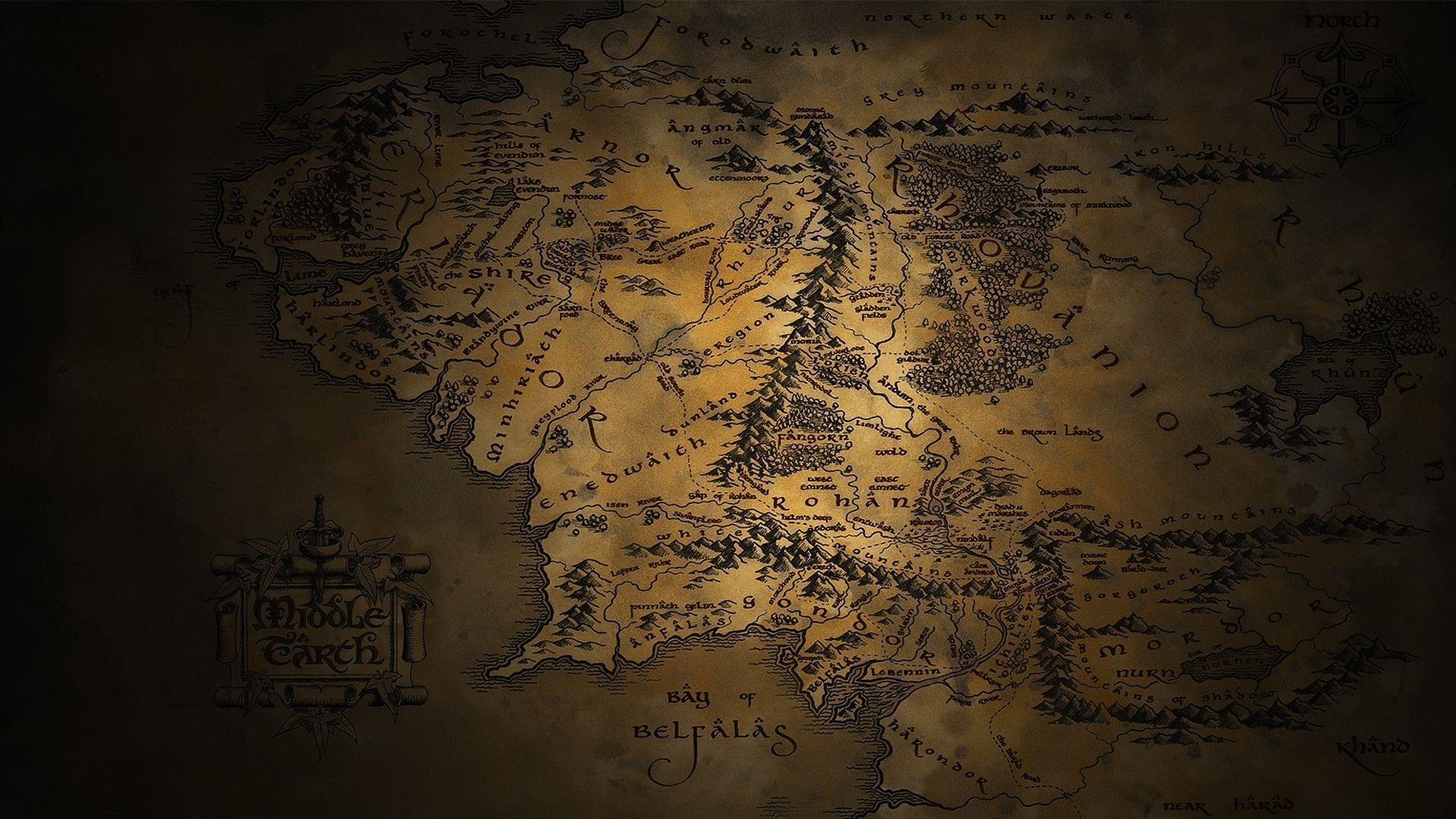 Lord Of The Rings Desktop Background Middle Earth Map Middle Earth Background Images Hd