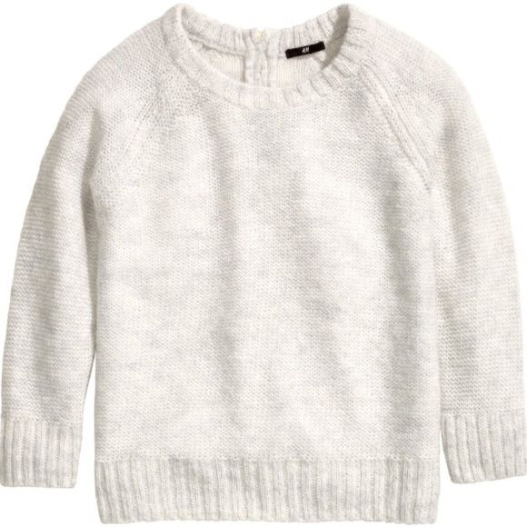 H&M Mohair Light Grey/Off White Sweater Cream colored knit sweater ...