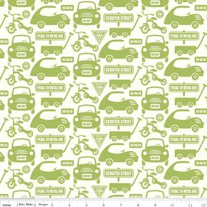 Sheri McCulley Studio - Cruiser Blvd - Cruiser Cars in Green